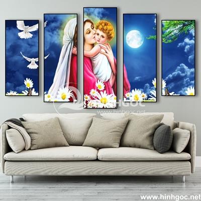 Tranh bộ 5 bức tranh công giáo-COF-155