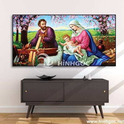 Tranh công giáo gia đình Chúa-COF-156