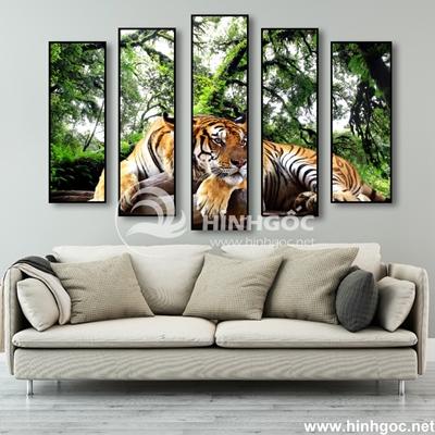 Bộ 5 tranh ghép hình con hổ vằn-COF-20