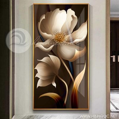 Tranh bông hoa trắng tranh treo tường-216