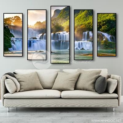 Tranh bộ 5 bức tranh sơn thủy-COF-341