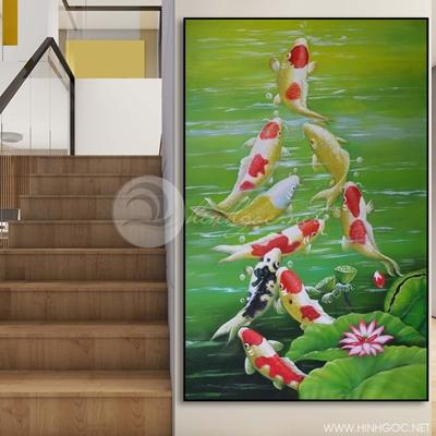 Tranh cửu ngư quần hội-COF-377