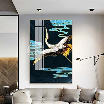 Tranh treo tường con chim sắc màu trừu tượng-COF-441