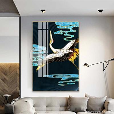 Tranh treo tường cá chép và hoa sen-COF-449