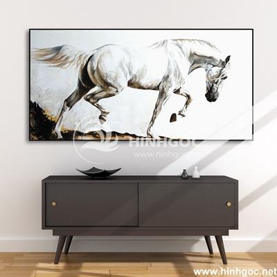 Tranh ngựa trắng-COF-50