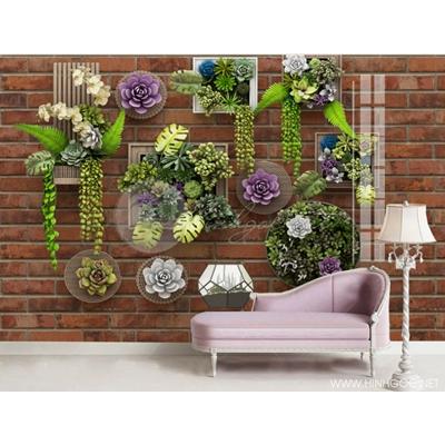 Dán tường 3D hoa nổi nền tường - DEF-25