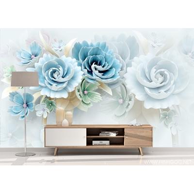 Dán tường 3D hoa nổi nền tường - DEF-32