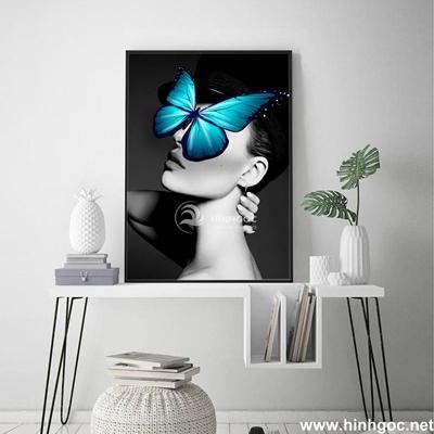 Tranh chân dung nghệ thuật cô gái - DES-121