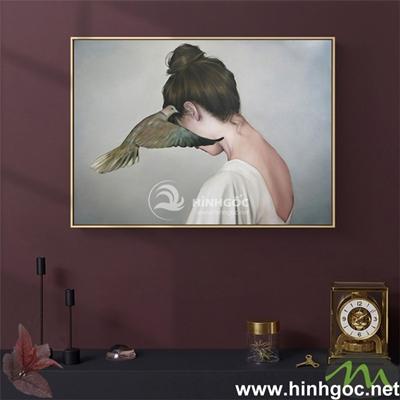 Tranh chân dung nghệ thuật cô gái - DES-126