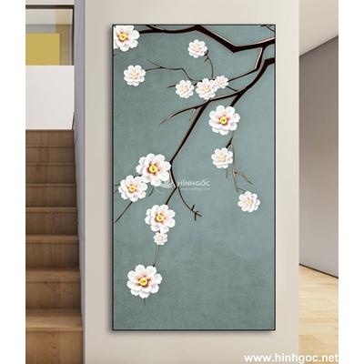 Bức tranh hoa và chim-DLV-108