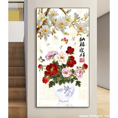 Tranh hoa sen và đàn cá -DLV-146