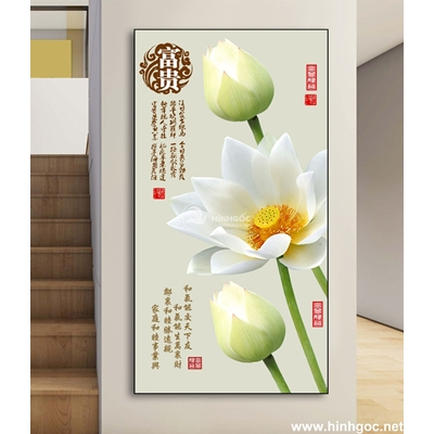 Hoa sen trắng-DLV-220
