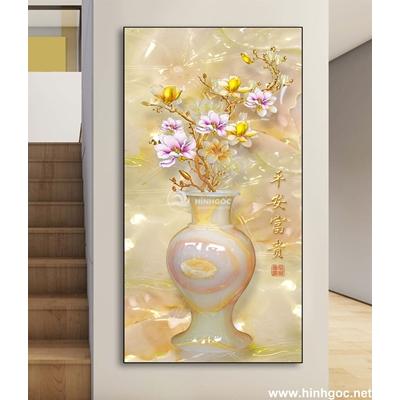 Tranh 3D bình hoa-DLV-221