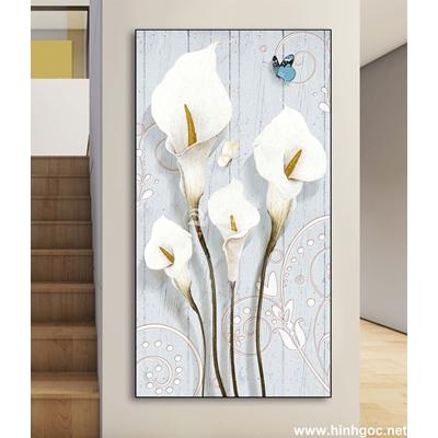 Mẫu họa tiết hoa loa kèn trắng-DLV-256