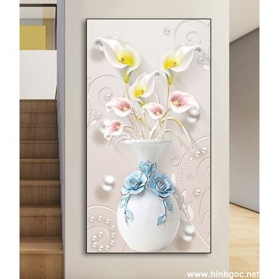 Tranh 3D bình hoa-DLV-259