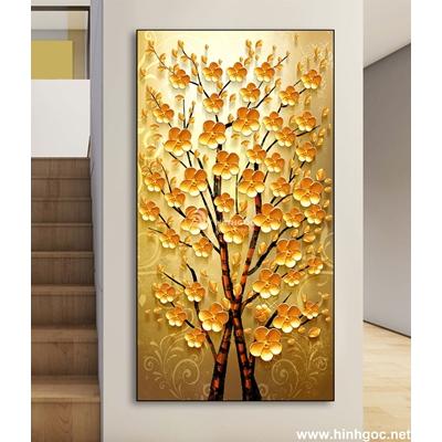 Tranh 3 D cành hoa vàng-DLV-268