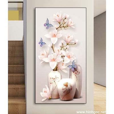 Tranh 3D Bình hoa-DLV-27
