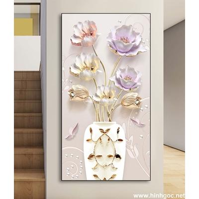 Tranh 3D Bình hoa-DLV-28