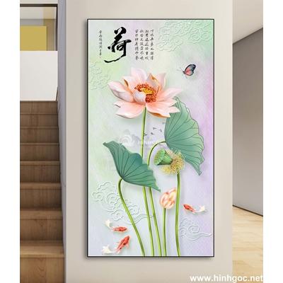 Hoa sen trắng đẹp 3D-DLV-88