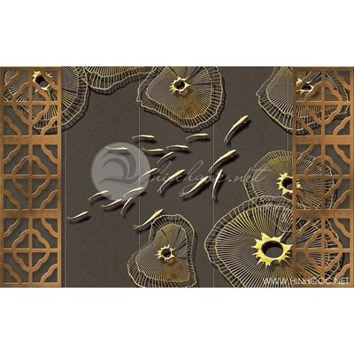 Tranh đàn cá vàng bơi - DTT079