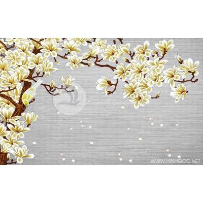 Tranh hoa cánh trắng bay - DTT091