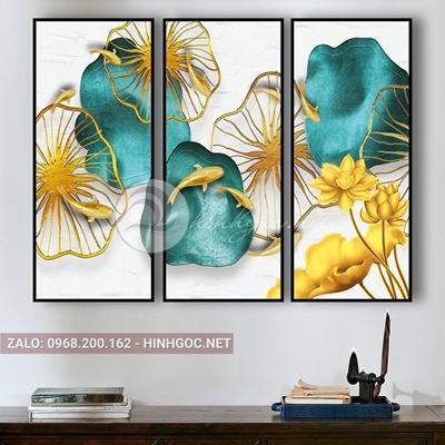 Tranh cá chép và hoa sen, và hình họa tiết -E-707