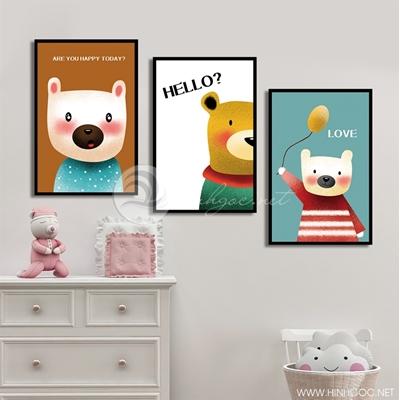 Tranh bộ 3 chú gấu đáng yêu - GEN08