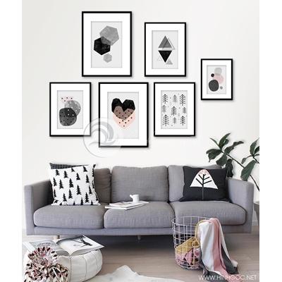 Tranh bộ nhiều bức họa tiết treo tường-GPD02
