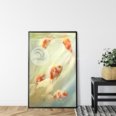 Tranh cá chép vàng treo tường-GPD57