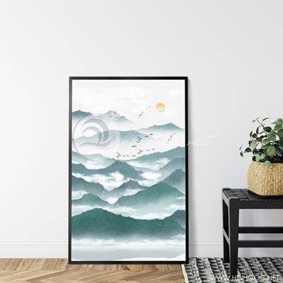 Tranh sơn thủy dãy núi trùng điệp-GPD59