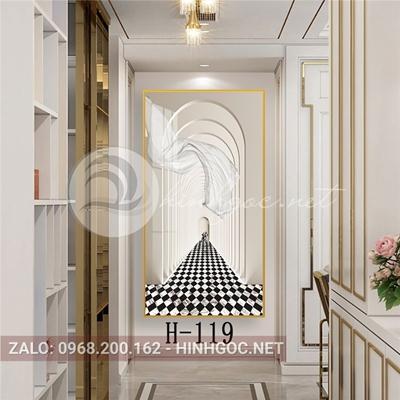 Tranh hình line art kiến trúc đẹp-H-119