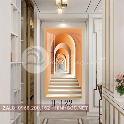 Tranh hình line art kiến trúc tầng hầm-H-122