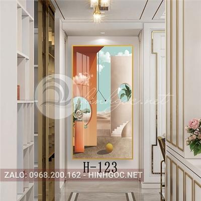 Tranh hình line art cửa sổ hoàng hôn-H-123