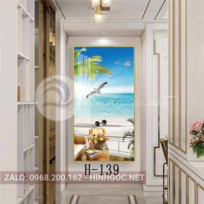 Tranh phong cảnh biển cánh chim bình yên-H-139