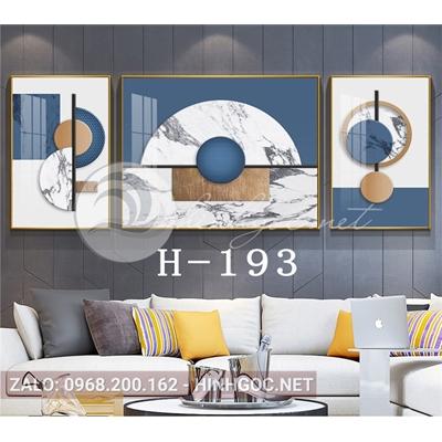 Bộ 3 tranh trừu tượng nghệ thuật line art-H-193