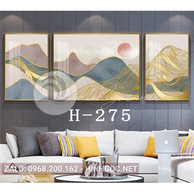 Bộ 3 tranh sơn thủy trừu tượng-H-275