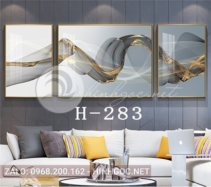 Bộ 3 tranh dải vân nghệ thuật độc đáo-H-283