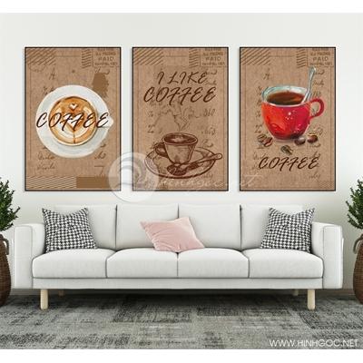 Tranh bộ tách cafe -  HEN12