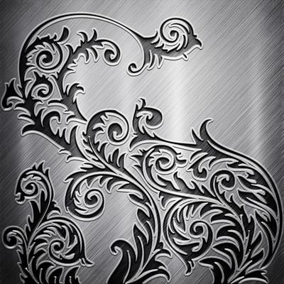 Hiệu ứng nền background hoa văn màu xám đen-imagestock_43413844