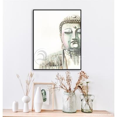 Tranh tượng Phật nền trắng - KEN62