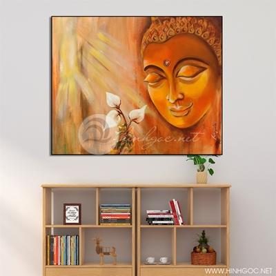 Tranh tượng Phật và hoa - KEN63