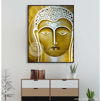 Tranh tượng Phật nền vàng - KEN70
