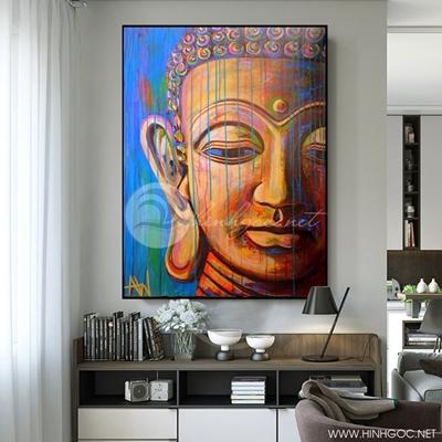 Tranh gương mặt Phật thích ca mâu ni - KEN73