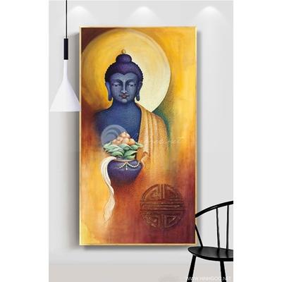 Tranh Phật thích ca mặc áo cà sa - KEN77