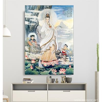 Tranh Phật quan âm trong đầm sen - KEN86
