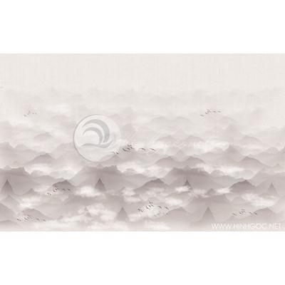 Tranh núi non trong sương mờ - MTT74