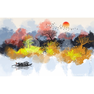Tranh khu rừng sắc màu - MTT94