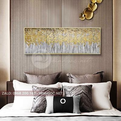 Tranh treo tường, rừng cây tuần lộc vàng-NDI218