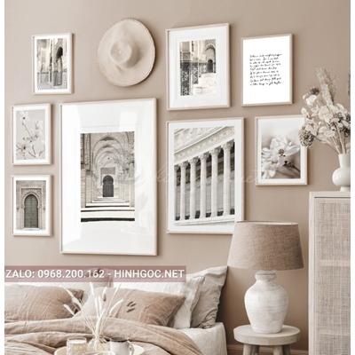 Tranh bộ nhiều bức tranh kiến trúc-NDI57