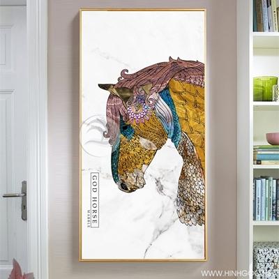 Tranh ngựa họa tiết - NEN69